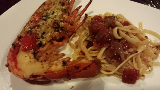Gordon Ramsay grilled lobster with bloody mary linguine