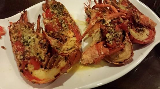 grilled chilli garlic butter lobster