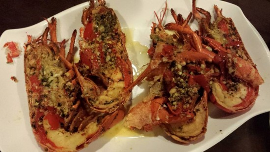 grilled chilli garlic butter lobster