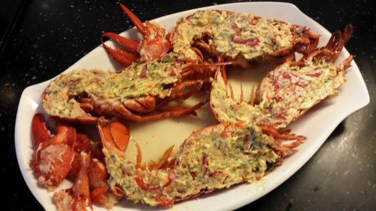 lobster with chilli garlic butter