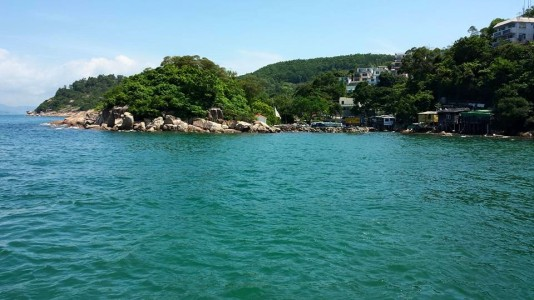 on ferry to yung shue wan 榕树湾 lama island 南丫岛
