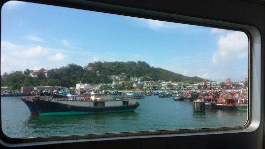 on the ferry cheung chau island
