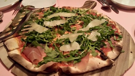 parma ham porcini cheese pizza - good