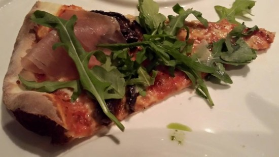 parma ham porcini cheese pizza - good