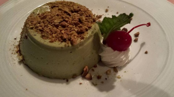 pistachio panna cotta - bad!