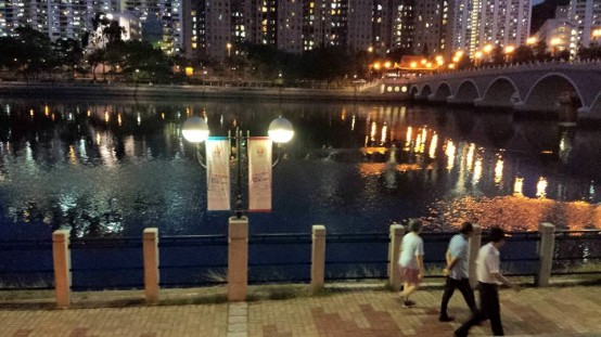 promenade at shatin park 沙田公园by the river 城门河