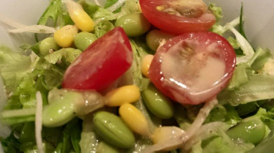salad with goma dressing