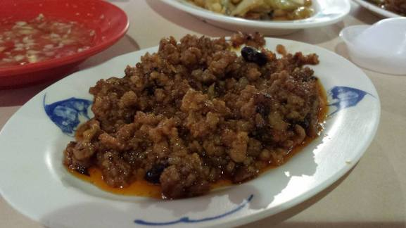 spicy black bean minced pork