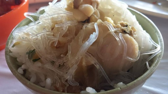 steamed scallps with garlic & tanhoon