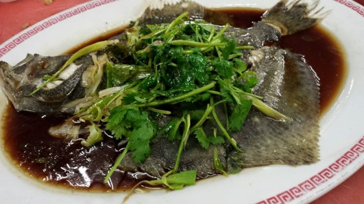 steamed turbot with 陈皮