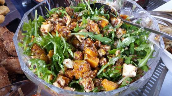 wife's pumpkin tofu salad