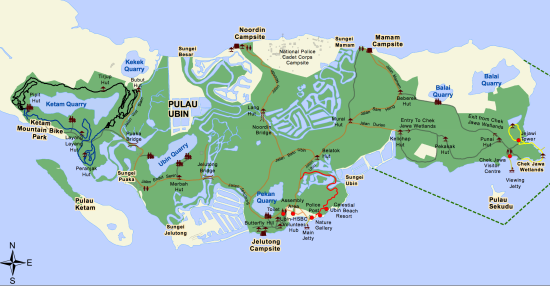 pulau ubin map