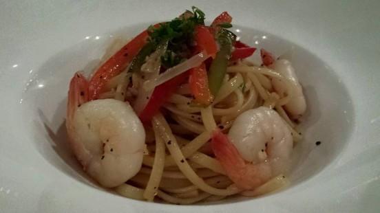 seafood alio olio linguine