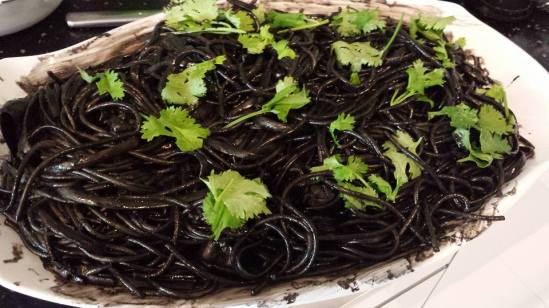 squid ink spaghetti