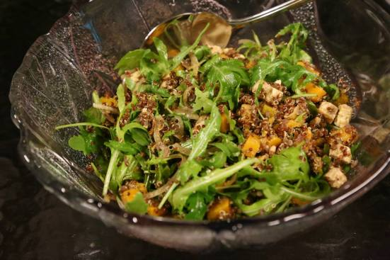 #1 wife's quinoa pumpkin tofu salad