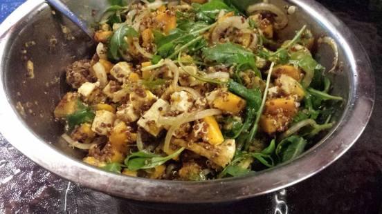 #2wifes quinoa pumpkin tofu salad