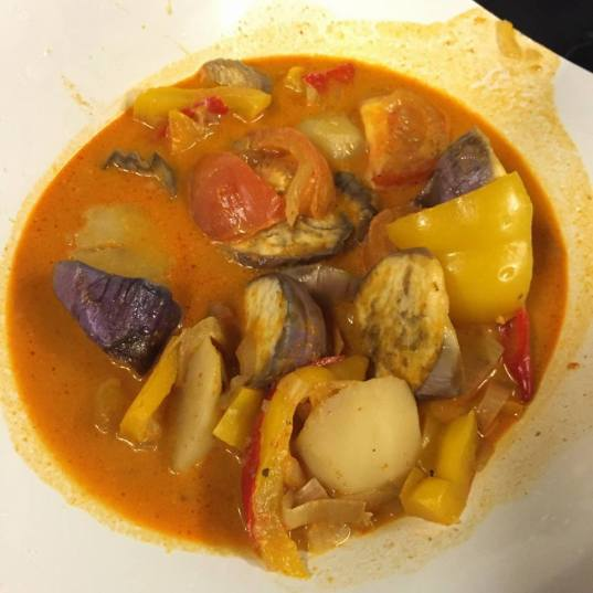 #8 thai red curry vegetables