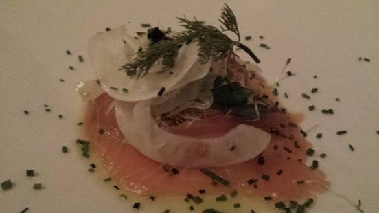 cured salmon with caviar