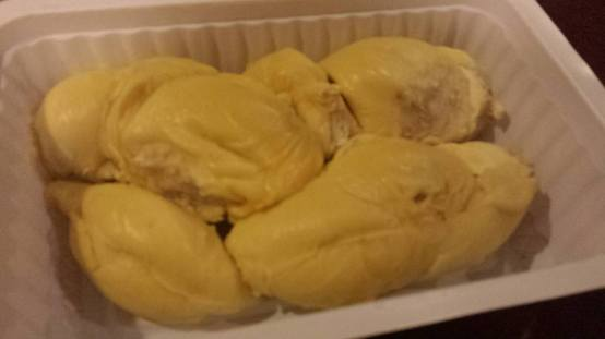 D-24 durian...also had 2x maoshanwang durians (forgot to take photo)