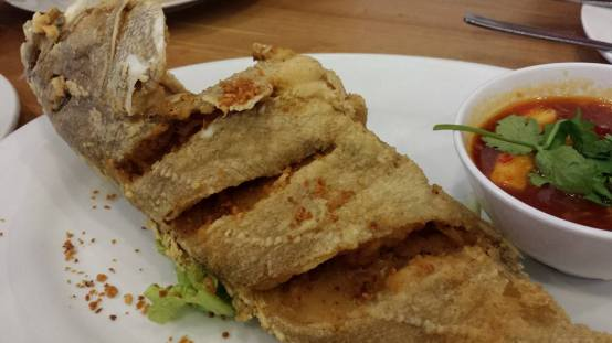 deepfried grouper with thai chilli