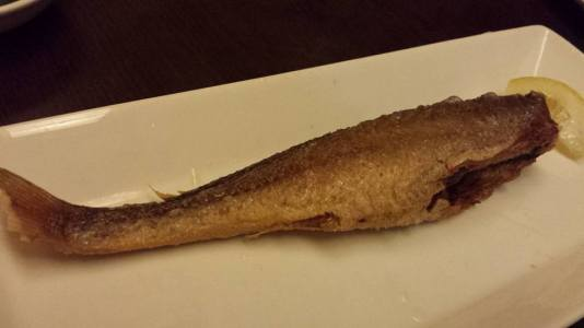 fried yellow croaker 煎小黄鱼