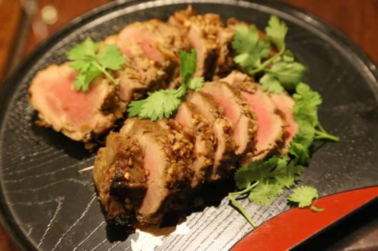 oven roasted kurobuta medium rare