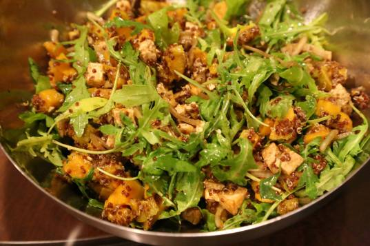 wife's quinoa pumpkin tofu