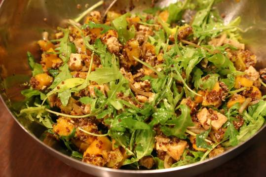 #2 wife's quinoa pumpkin tofu salad - i think everyone's favourite