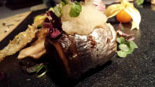 #10 - yakimono = rolled sanma & egg plant