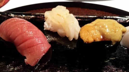 #11 - nigiri sushi - chutoro, shiro ebi, uni