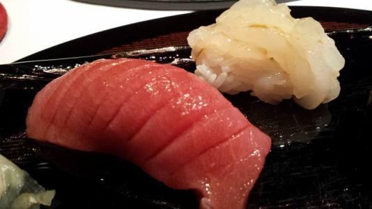 #11 - nigiri sushi - chutoro, shiro ebi