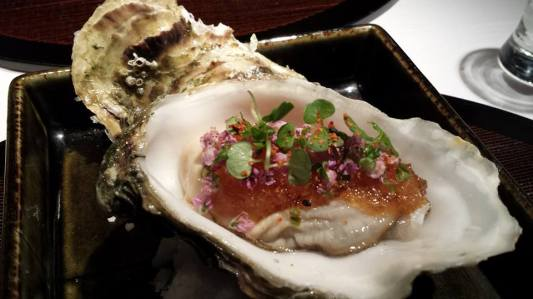 #4 oyster sashimi with vinaigrette jelly?
