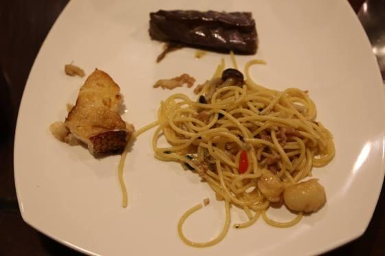 #4 wafu (和风) pasta, wafu (和风) braised eggplant & teriyaki cod