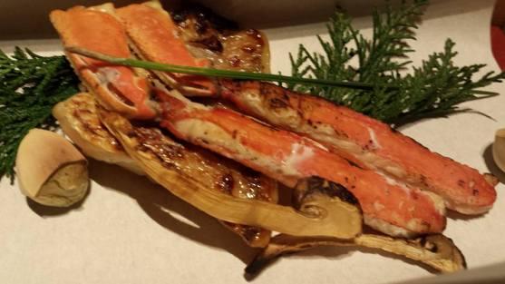sea bream teppanyaki & snow crab legs