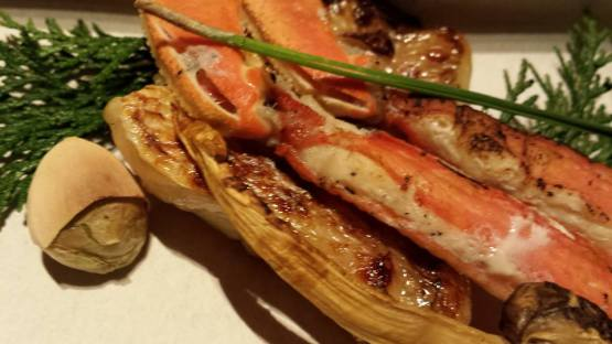 sea bream teppanyaki & snow crab legs