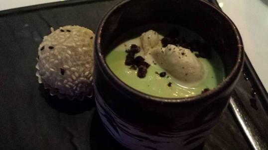 #8 avocado ice cream & sesame dumpling