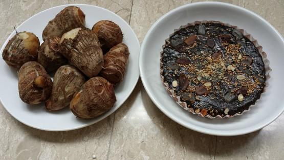 black cake (old korh) & yam