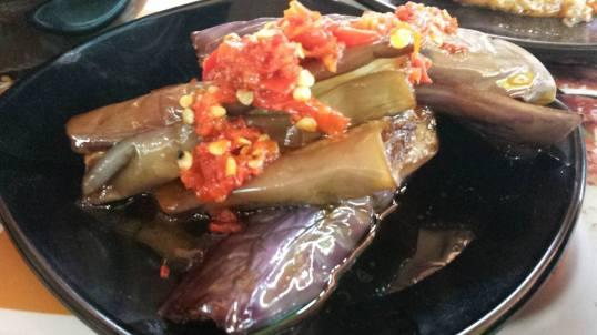 chilli brinjal