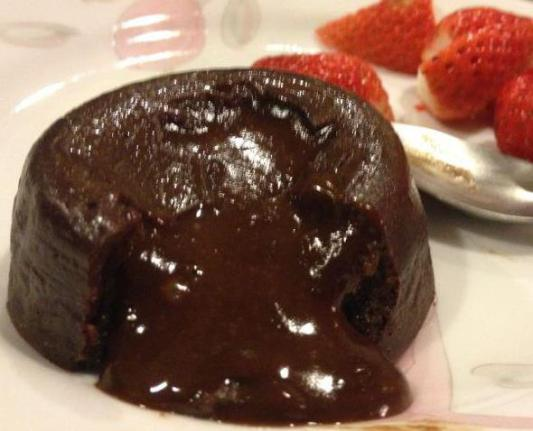 choc lava cake (when lava is flowing)