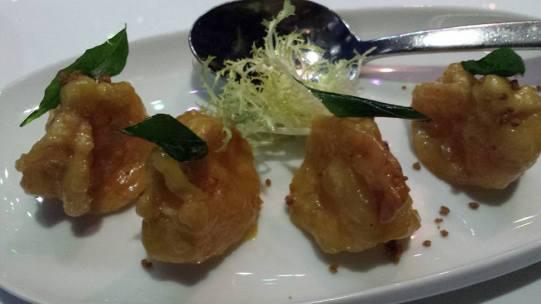 #4 deep-fried prawns with creamy lemon