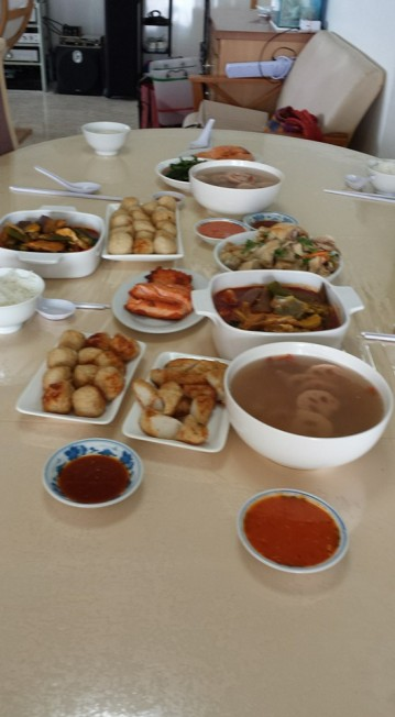 中秋lunch at brother's place