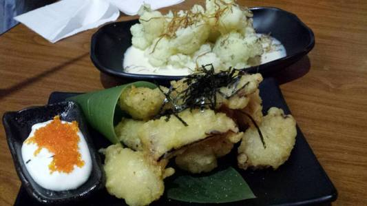 ctopus tempura & cauliflower