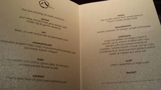 omakase menu