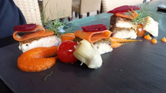 panfried seabass