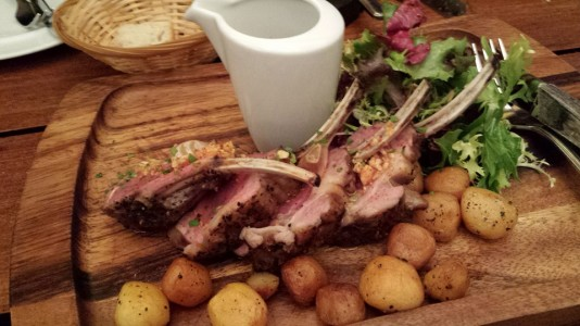 rack of lamb-almost raw