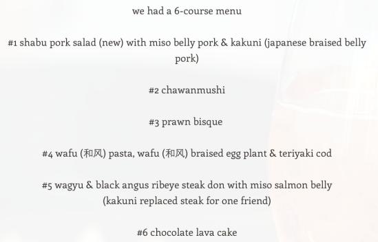 we had a 6-course menu