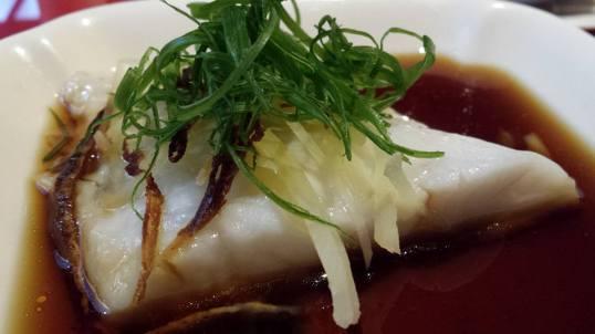 steamed fish fillet with ginger & orange peel