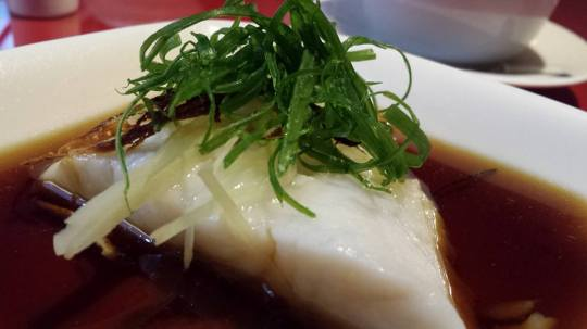 steamed fish fillet with ginger & orange peell