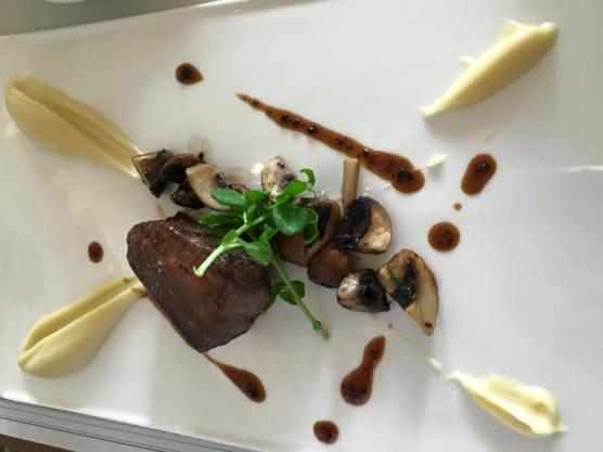 36hrs short ribs. truffle miso glaze. parsnip puree