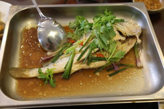 #7 steamed yellow croaker 小黄鱼